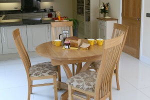 Andrena Round Oak Dining Table 300 x 200