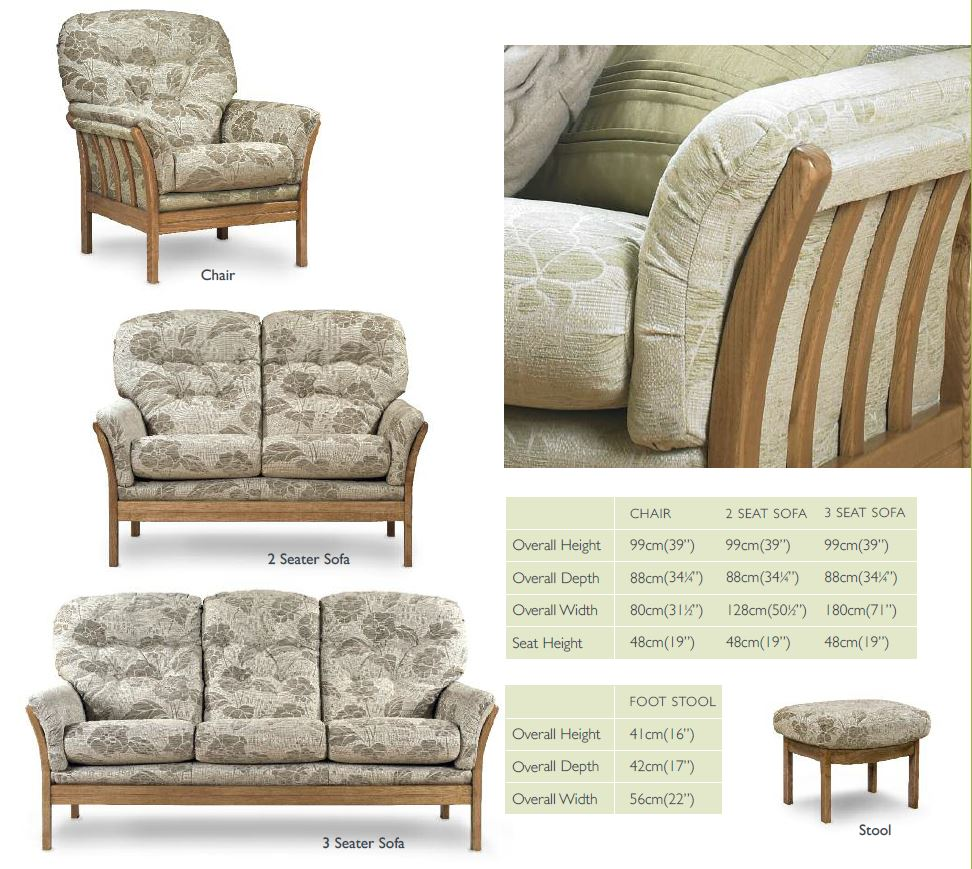 Vermont Sofa and Footstool